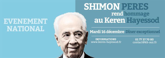 Shimon Peres à Paris