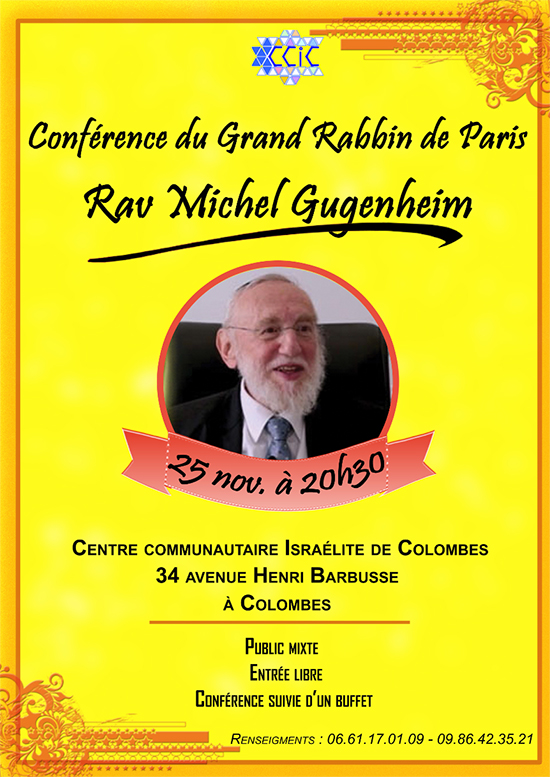 Conférence du Grand Rabbin de Paris, Michel Gugenheim